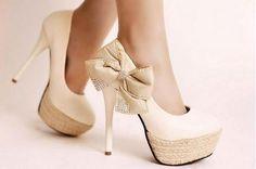 bow pumps shoes sapato laço