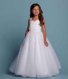 Romantic Bridal Flower Girl Style 1696 *Available at http://www.tie-the-knot-bridal.com/ Green Bay, WI.  Call us at 920-662-1920 to schedule an appointment.