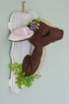 Ciervos de la felpa del faux Taxidermia por ClaraLoo en Etsy