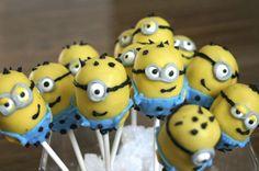 Cake pops at a Minion Despicable Me Party #despicableme #partycakepops