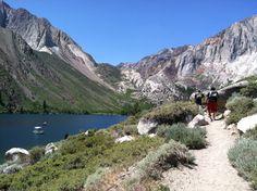 Hike along Convict Lake, Sierra Nevada Mountains.