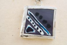 Hand Painted Glass Pendant Glass Pendant by bluegatorjewelry, $20.00