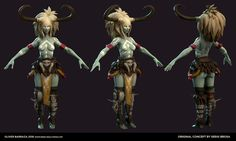 Created during Gilberto Magno's Games Character Workshop. (Oct - Dec 2016) Character design by Sergi Brosa https://www.behance.net/gallery/18843499/Fantasy-Fighters-Thunder-female-1