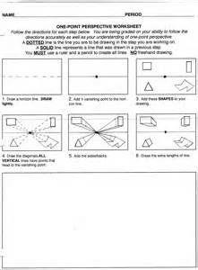 Worksheets One Point Perspective Worksheet one point perspective drawing the ultimate guide onepoint worksheets bing images