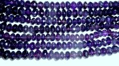 Amethyst Facet beads 6 mm