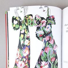 The first half of the book focuses on Celia's work, and shows her sketches and process, and photos of final fabrics and garments.