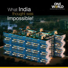 """Sky Bungalows and Terraces by #ONEWORLD - a never before seen masterpiece in #India, which combines eclectic design, the world's best architects, and everything you thought was only """"international"""" till now. So when you have to visit India, exclusive options may be rare, but they're right here! http://www.chennaioneworld.com/brochure.php?mId=1"""
