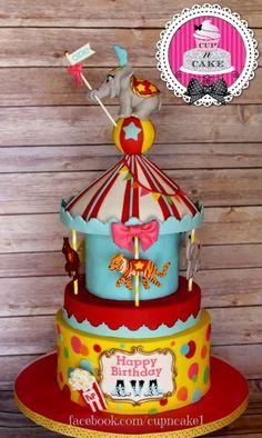 First birthday circus cake