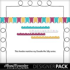 Digital Scrapbooking Kits | Doodle Me Happy Sampler-(Alb2Rem) | Boys, Everyday, Family, Girls | MyMemories
