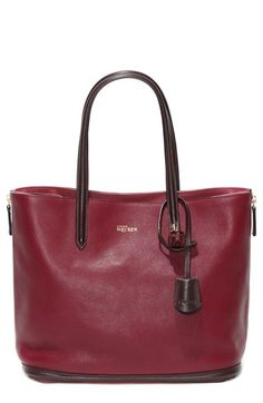 Alexander McQueen 'Small Padlock' Calfskin Leather Shopper available at #Nordstrom