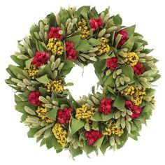 Smith & Hawken® Globe Amaranth Dried Wreath