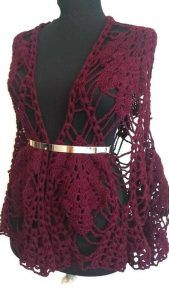 Burgundy lace triangle shawl, crochet boho tunic shawl see through cover up, dark red tunic Crochet Shawl, Crochet Lace, Tribal Fashion, Boho Fashion, Red Tunic, Hippie Lifestyle, Crochet Triangle, Thing 1, Hippie Style