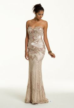 Prom Dresses 2013 - Long Lace Peplum Dress from Camille La Vie and Group USA