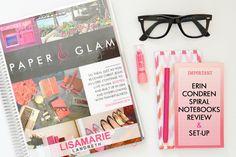 Erin Condren Spiral Notebook Review & Set up + Giveaway!