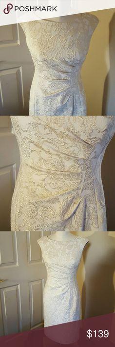 Selling this Ivory brocade sheath dress on Poshmark! My username is: vixen676. #shopmycloset #poshmark #fashion #shopping #style #forsale #Lauren Ralph Lauren #Dresses & Skirts