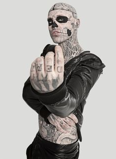 Rick Genest / zombie boy / tattoos