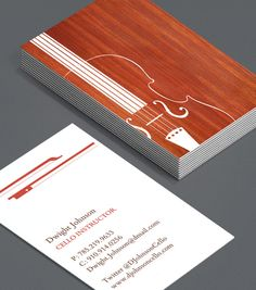 Cello or violin instructor Business Card Design