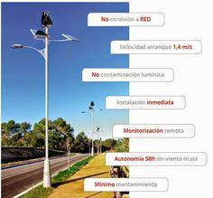 Primer sistema autónomo de alumbrado público alimentado con energía solar y eólica.  El único en el mundo que genera electricidad a partir de 1,7m/s. Reduce el coste en un 20% en comparación con los sistemas de alumbrado público convencional. Leer mas http://ecoinventos.com/primer-sistema-autonomo-de-alumbrado-publico-alimentado-con-energia-solar-y-eolica/