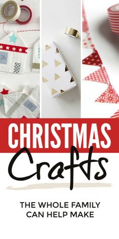 Christmas crafts for kids to make - easy DIY Christmas crafts for the whole family including children from toddlers and preschool and up. These handmade vintage Christmas crafts are lovely for Christmas gifts presents and decorations. Christmas Crafts For Kids To Make, Homemade Christmas Decorations, Christmas Activities For Kids, Simple Christmas, Kids Christmas, Holiday Crafts, Christmas Bunting, Vintage Christmas, Kids Crafts