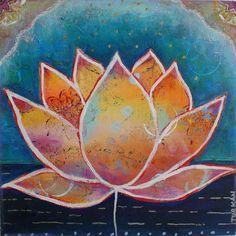 Lotus Flower Painting Abstract Google Search