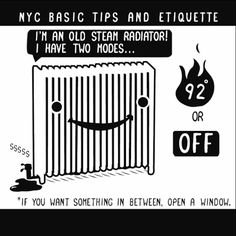 How To Survive In New York City - Nathan Pyle's gifs of NYC Basic Tips and Etiquette will teach you everything you need to know for winter life.