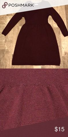 Calvin Klein sweater dress! Worn only twice !! Super comfy burgundy sweater dress. Calvin Klein Dresses Midi
