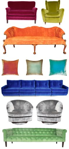 the couches I want... Love the orange one