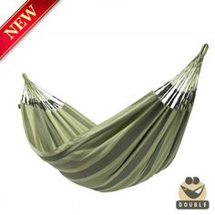 LA SIESTA double hammock AVENTURA forest can be left outside all summer! AVENTURA is made of HamacTex® (polypropylene). This fibre is weatherproof, fast-drying and surprisingly similar to cotton in look and touch. Sonrisa is from Colombia, where hammocks have always been an essential part of everyday life.