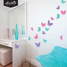 Butterflies Wall Decal Set  Wall Graphics  by SirFaceGraphics, £20.00
