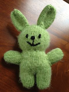 """Plush Bunny Free Knitting Pattern ~ PDF File: click """"download"""" or """"free Ravelry download"""" here: http://www.ravelry.com/patterns/library/bunny-35"""