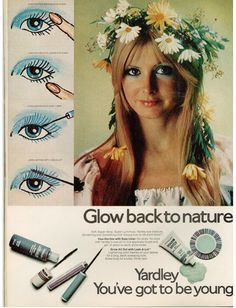 Yardley of London vintage 1971 ad Earth Child Eyes