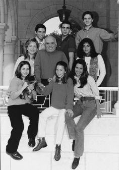 From the right: Prince Hamza, Prince Ali, Prince Hashem, Queen Noor, King Hussein, Abir Muhaisen, Princess Iman, Princess Raiyah and Princess Haya