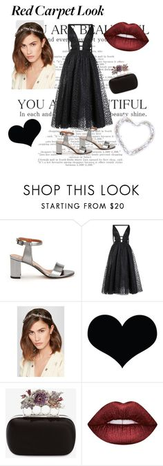 """""""Black but gold"""" by leticianicolino ❤ liked on Polyvore featuring Aquatalia by Marvin K., Carolina Herrera, Jennifer Behr, Brika, Alexander McQueen and Lime Crime"""