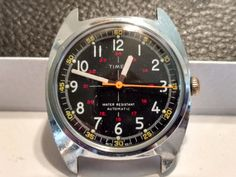 VERY RARE 1977 Timex Military Style Crosshair by VintageWatch4Me