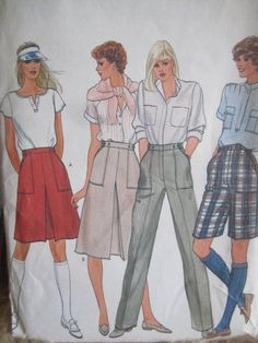 See Sally Sew-Patterns For Less - Pants Shorts Skirt Vintage Vogue 8018 Pattern Sz. 14, $8.99 (http://stores.seesallysew.com/pants-shorts-skirt-vintage-vogue-8018-pattern-sz-14/)