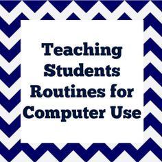 Teaching Students Routines for Computer Use These are exactly the procedures I used when I was in the elementary computer lab. All spot-on! Elementary Computer Lab, Computer Lab Lessons, Computer Teacher, Computer Class, Technology Lessons, Teaching Technology, Educational Technology, Computer Science, Computer Lab Design