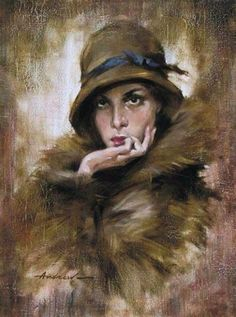 Atroshenko, Andrew (b,1965)- Woman w Palm Under Chin -2b