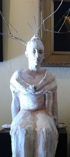 Mary Buckman-ceramic click now to see more. Cardboard Sculpture, Wood Sculpture, Ceramic Sculptures, Ceramic Figures, Clay Figures, Paper Clay, Clay Art, Sculpture Projects, Pottery Designs
