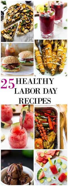 Get ready for Labor Day weekend with these 25 Healthy Labor Day Recipes from burgers to drinks to no bake desserts! via http://jessicainthekitchen.com