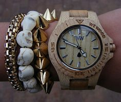 A cool oversized watch from WeWOOD. WeWOOD fashions wooden timepieces from scrap-wood and uses state-of-the-art Miyota movements for the gut...