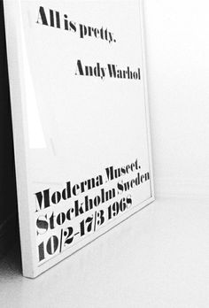 Via Kenziepoo | Moderna Museet Warhol Poster