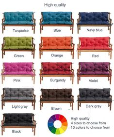 Waterproof, High Quality Replacement Cushion Seater for Garden Swing Bench Chair Large Cuchion pad, custom sizes available by Krrugerlife on Etsy Pallet Cushions, Garden Cushions, Chair Bench, Outdoor Cushions, Cushions On Sofa, Waterproof Cushions, Replacement Cushions, Brown And Grey, Interior Decorating