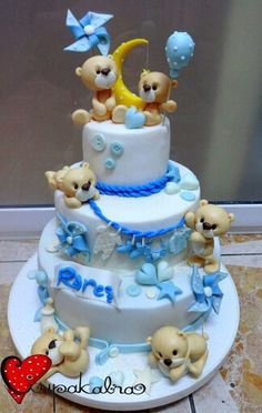 Cute cake for a baby boy.