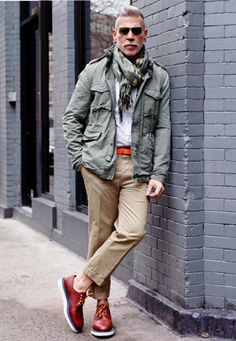 """""""Alpha male of American street style"""" according to GQ. This guy is everywhere. Sock-free at that. Nick Wooster x IL CORSO, Mens Spring Summer Fashion. #nosocks"""