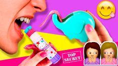 ¡¡TOP SECRET!!  * 5 TRUCOS para ESCONDER DULCES en la ESCUELA * ✍️ Út...