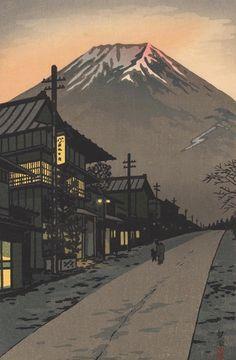 Fuji from Yoshida, Yamanashi by Shiro Kasamatsu, 1958