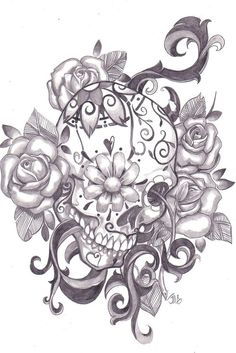 Awesome sugar skull tattoo  Repinly Tattoos Popular Pins