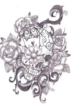 Awesome sugar skull tattoo  Repinly Tattoos Popular Pins