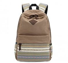 Unisex-Fashionable-Canvas-Zip-Bohemia-Boho-Style-Backpack-School-College-Laptop-Bag-for-Teens-Girls-Boys-Students-0