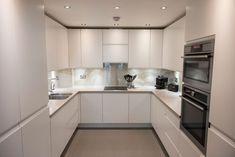 U shaped kitchen area